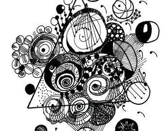 Circle Geometric Print