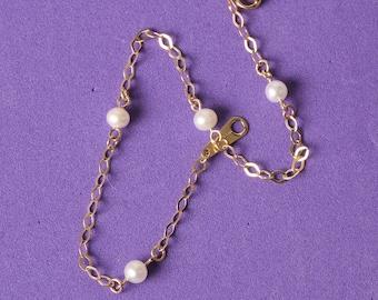 GIRLS bracelet gold Pearl