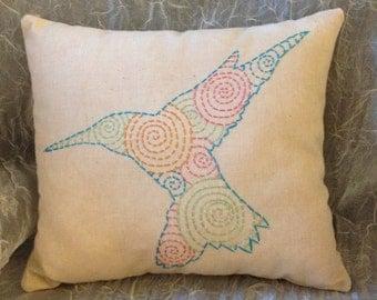 Hummingbird Mini Pillow