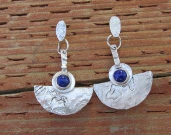 Lapis lazuli sterling eardangles