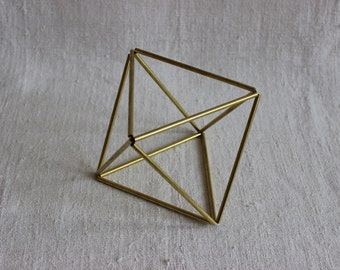 Octahedron: geometric ornament - Christmas decoration, Himmel sculpture