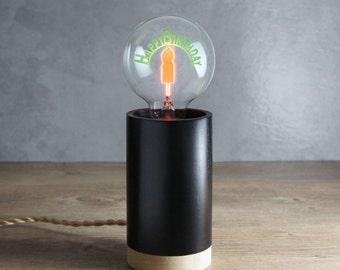 Stand Collection | Handmade Pine Wood (FSC), add Happy Birthday Light Bulb / Edison Light Bulb | 1-Year Warranty (Light Bulb not applied)
