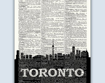 Toronto Skyline, Toronto Poster, Toronto Decor, Toronto Print, Toronto Wall Art, Toronto Gift, Toronto Canada, Toronto Skyline Art
