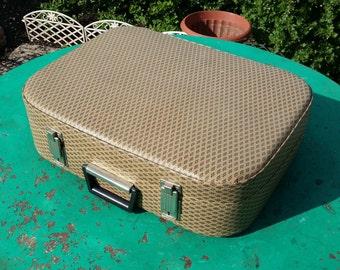 SALE!!!Soviet vintage suitcase 1970s.