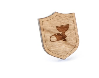 Communion Lapel Pin, Wooden Pin, Wooden Lapel, Gift For Him or Her, Wedding Gifts, Groomsman Gifts, and Personalized