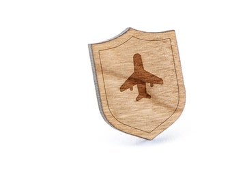 Aeroplane Lapel Pin, Wooden Pin, Wooden Lapel, Gift For Him or Her, Wedding Gifts, Groomsman Gifts, and Personalized