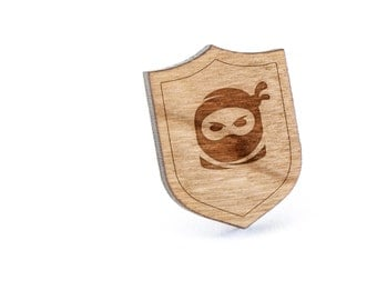 Ninja Face Lapel Pin, Wooden Pin, Wooden Lapel, Gift For Him or Her, Wedding Gifts, Groomsman Gifts, and Personalized