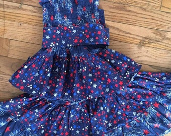 All American Custom Boutique Twirl Skirt Set Size 3-4-5