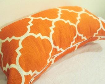 Orange/white pattern