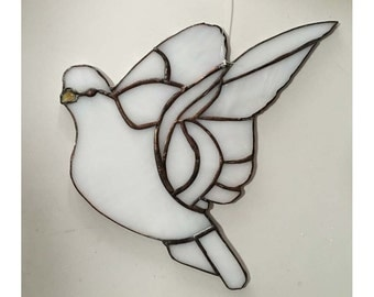 White Dove #1 - Stained Glass Suncatcher