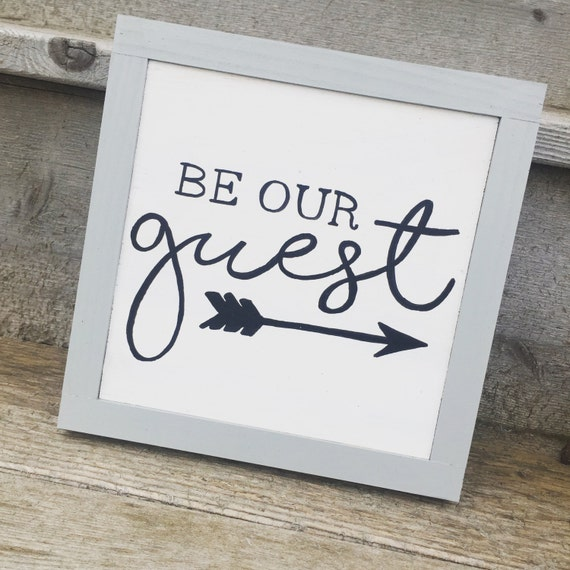 Guest Room Sign Decor: Be Our Guest Wood Sign Guest Room Decor Modern Wall Decor