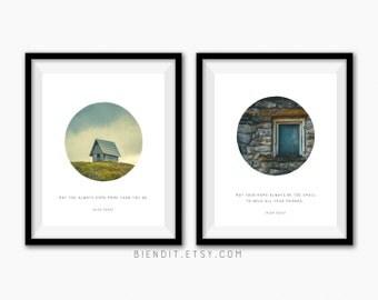 Irish Toasts Two Print Set, Irish Blessing, Irish Toast, Irish Poster, Irish Art, Irish Print  Minimalist Art
