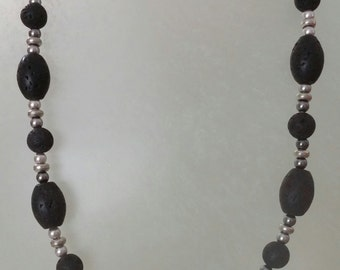 "18"" Lava Stone Necklace"