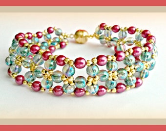 Chinese Crystal beads bracelet from 4 mm