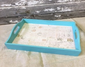 Teal serving tray