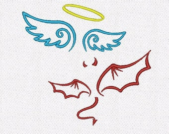 Angel Devil machine embroidery designs