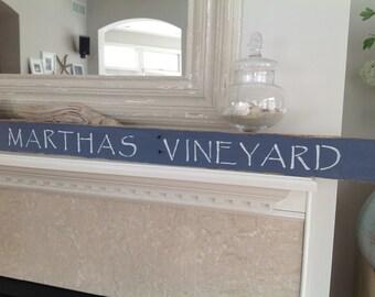 Martha's Vineyard Sign, Coastal Decor, Nautical,Cape Cod, Coastal, Beachy