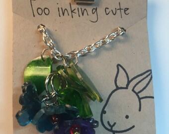 Shrink plastic flower necklace
