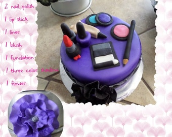 Make Up Edible Cake Topper