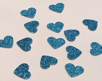 200 Blue Heart Confetti Blue Confetti Heart Confetti Glitter Confetti Shower Confetti Baby Confetti Wedding Confetti Birthday Confetti
