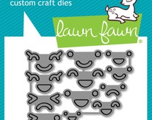 Lawn Fawn Lawn Cuts - Make Me Smile - 12 Cute Faces Cutting Dies add to Your Projects!
