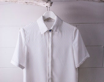 Silk blouse with polka dots