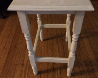 Vintage cream side table