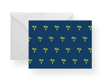 Note Cards Palm Trees (Set) stationary, Palm tree stationary, navy note cards, navy stationary