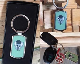 Koala Keychain, 'Koalified' Metal Key Ring Gift