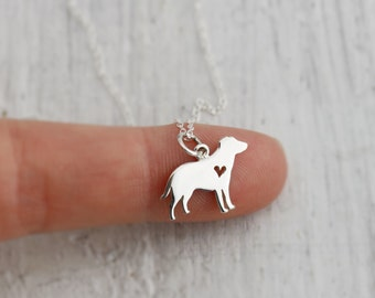 Large Dog Necklace - Labrador Necklace - Sterling Silver Labrador Retriever Necklace - Labrador Pendant Labrador Jewelry Gun Dog Water Dog