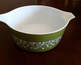Pyrex Spring Blossom Green bowl