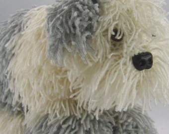 Old English Sheepdog Knitting Pattern, Dog Knitting Pattern