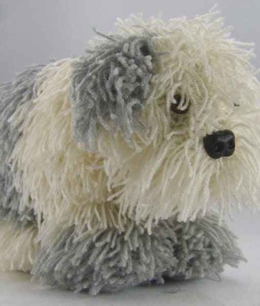 Old English Sheepdog Knitting Pattern Dog Knitting Pattern