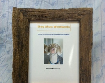 Rustic, Weathered Picture Frame 8x10