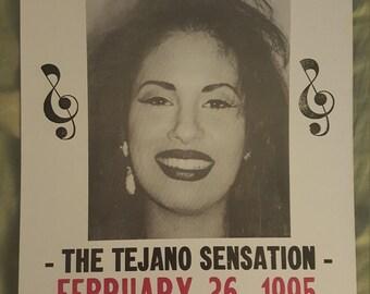 Selena concert poster