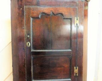 Old Oak Corner Cupboard/Early Oak Corner Cupboard/18th century Corner Cupboard/Collect or Arrange Carrier