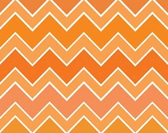 Riley Blake  Shaded Chevron in Blaze Orange Cotton Fabric