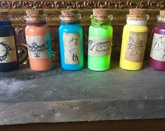 Potion Bottle Charm set of 6