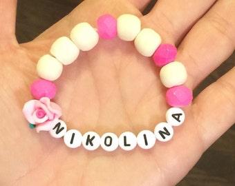 Cross bead bracelet