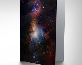 Greetings Card Birthday Gift Space Infrared View Orion Nebula CP2863