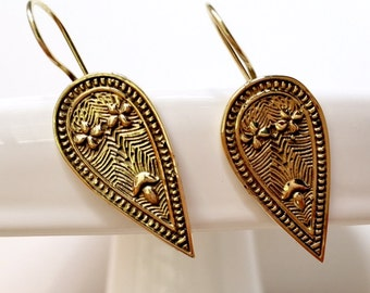 Garden of Eden Solid Brass Earrings