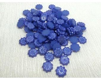 Flat back flower 30gram mix of embellishments blue