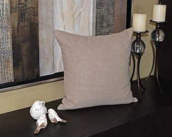 Decorative Pillow Cover, Beige, Cotton, Elegant,  Invisible Zipper, Woven Fabric