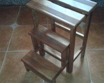Stool wood folding ladder