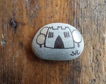 My painted stones: little castle