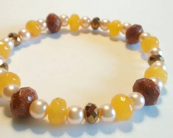 Honey Jade Bracelet