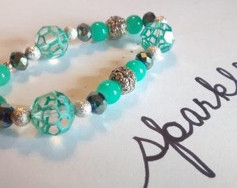 Painted Jade Bracelet
