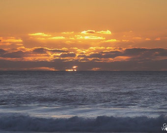 Pacifica Sunset - Pacific Ocean California Coast - Fine Art Print - 8x10 11x16, Landscape Photograph