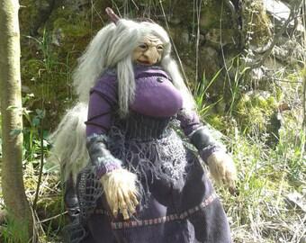 troll witch ooak doll