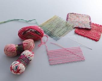 KA Square Weaving Loom, Opal Mini Ball, Woven Fabric, Coaster, Place Mat, Cross-stitch, Kit, Weaving Kit,